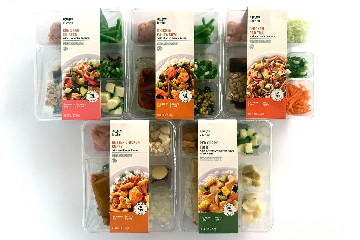 Amazon Meal Kit meals in package