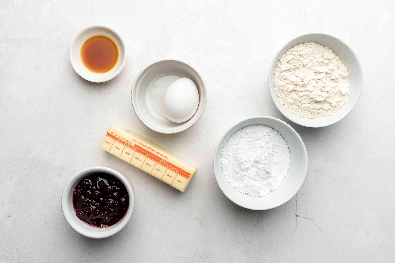 Austrian Linzer Cookie ingredients