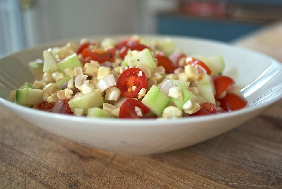 Corn, Cucumber, and Tomato Salad