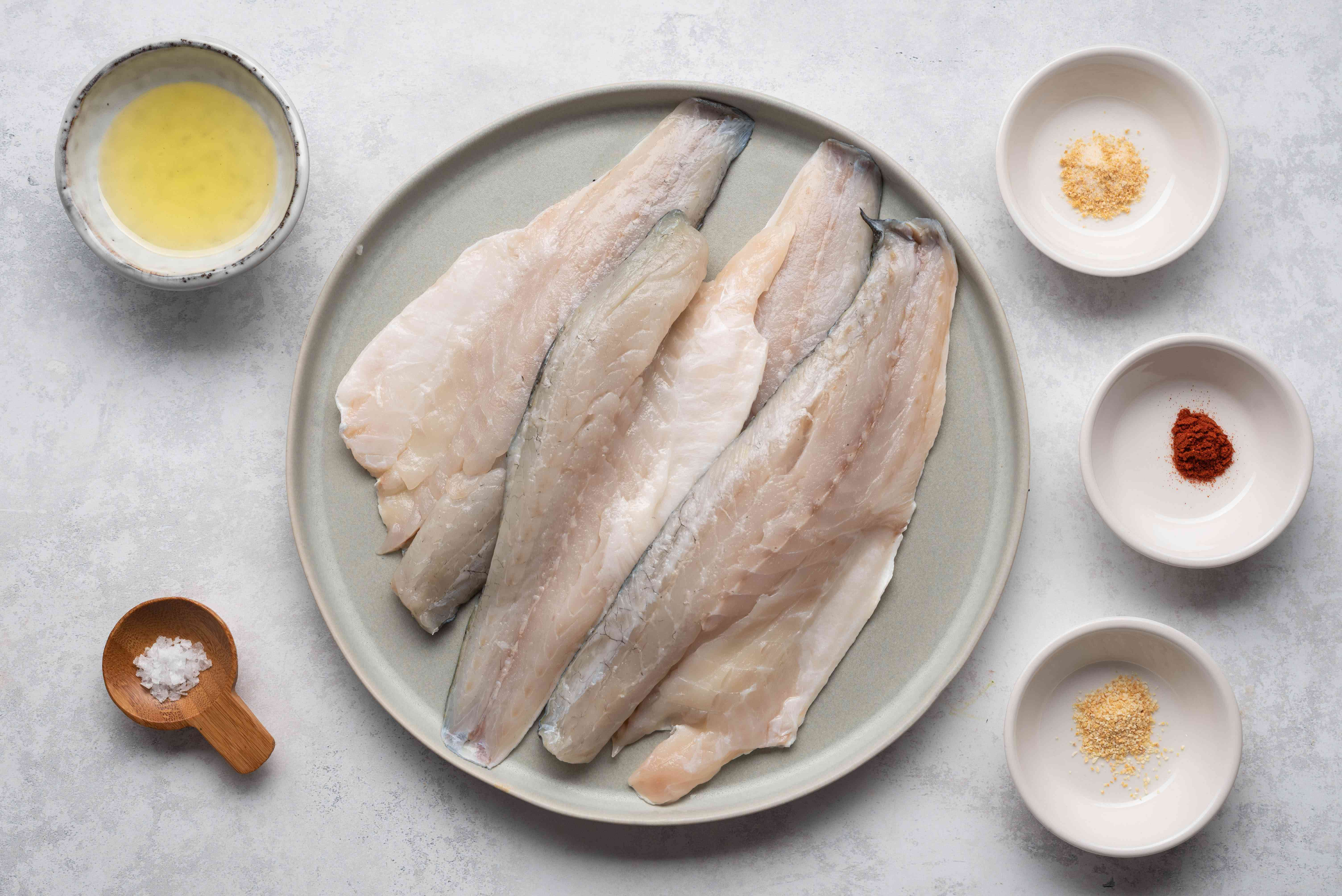 Grilled Sea Bass With Garlic Butter ingredients