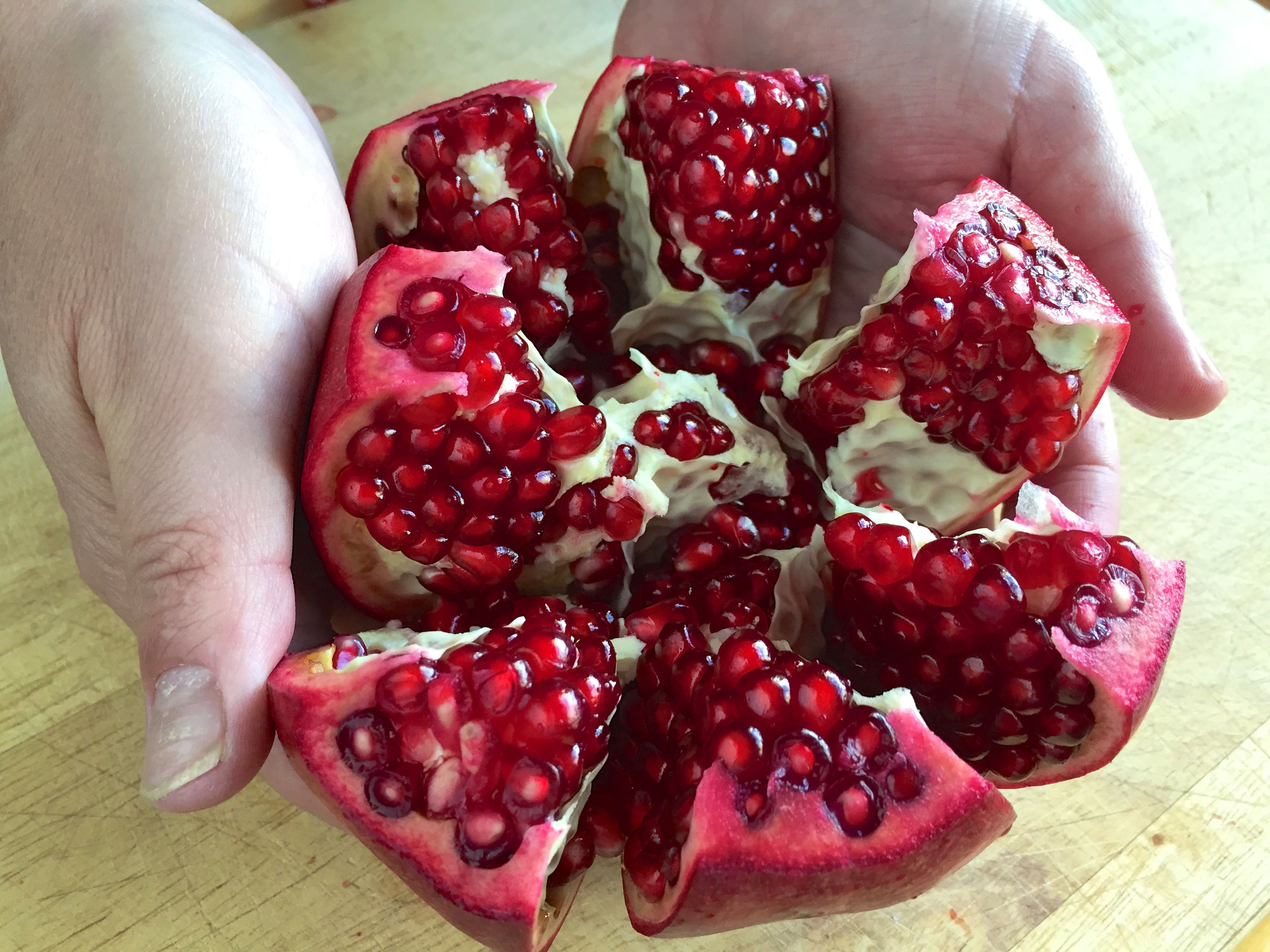 Opening up the Pomegranate