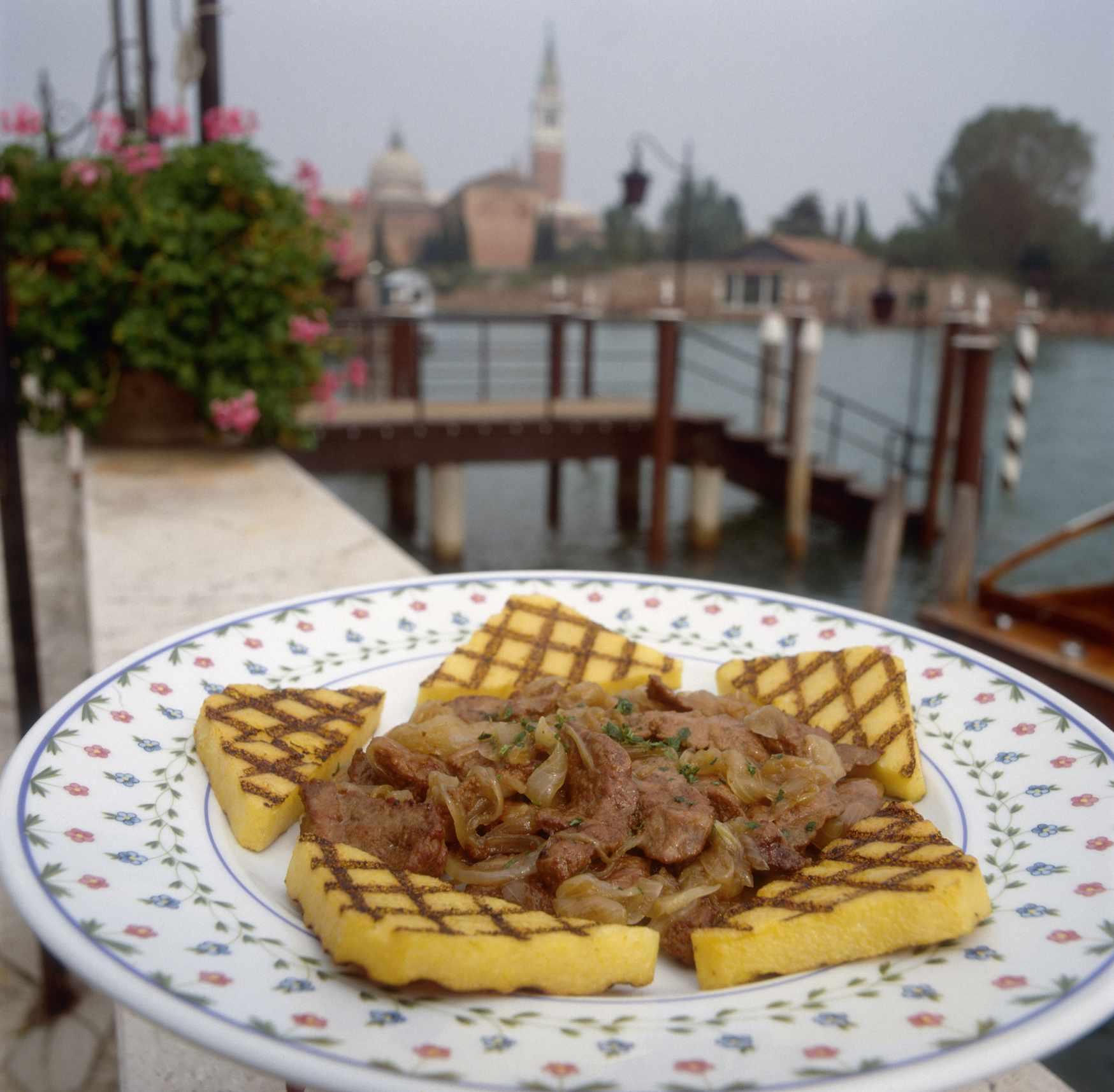 Venetian grilled polenta with calf liver