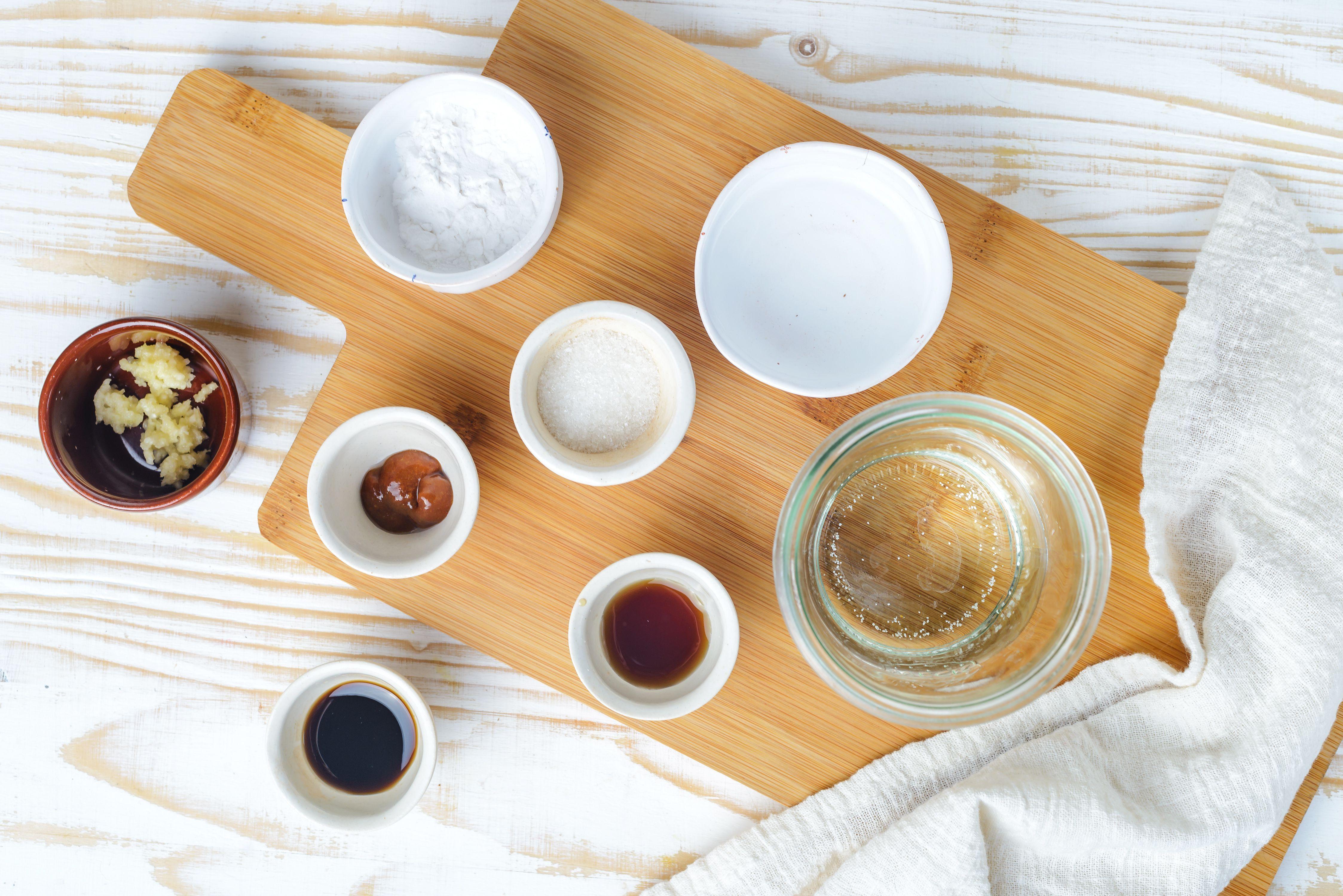 Ingredients for tamarind dipping sauce