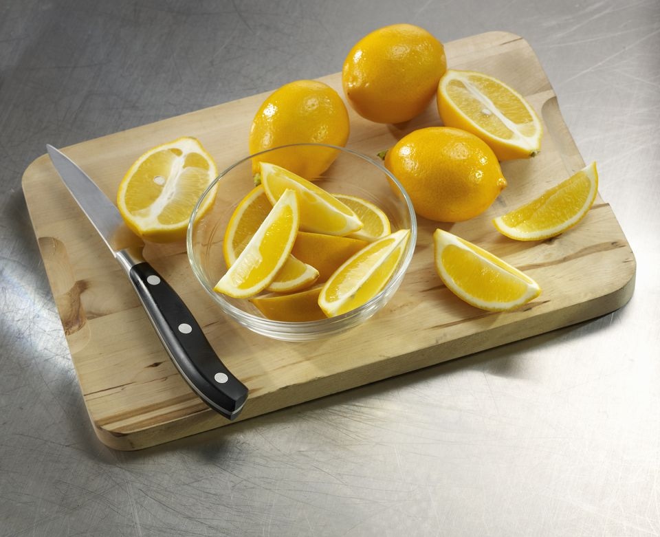 Cut and Whole Meyer Lemons