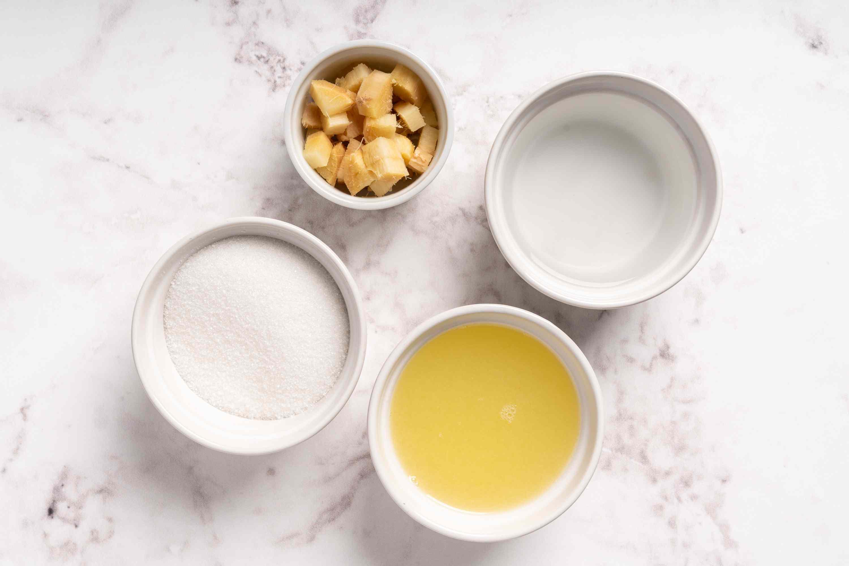Lemon-Ginger Simple Syrup ingredients