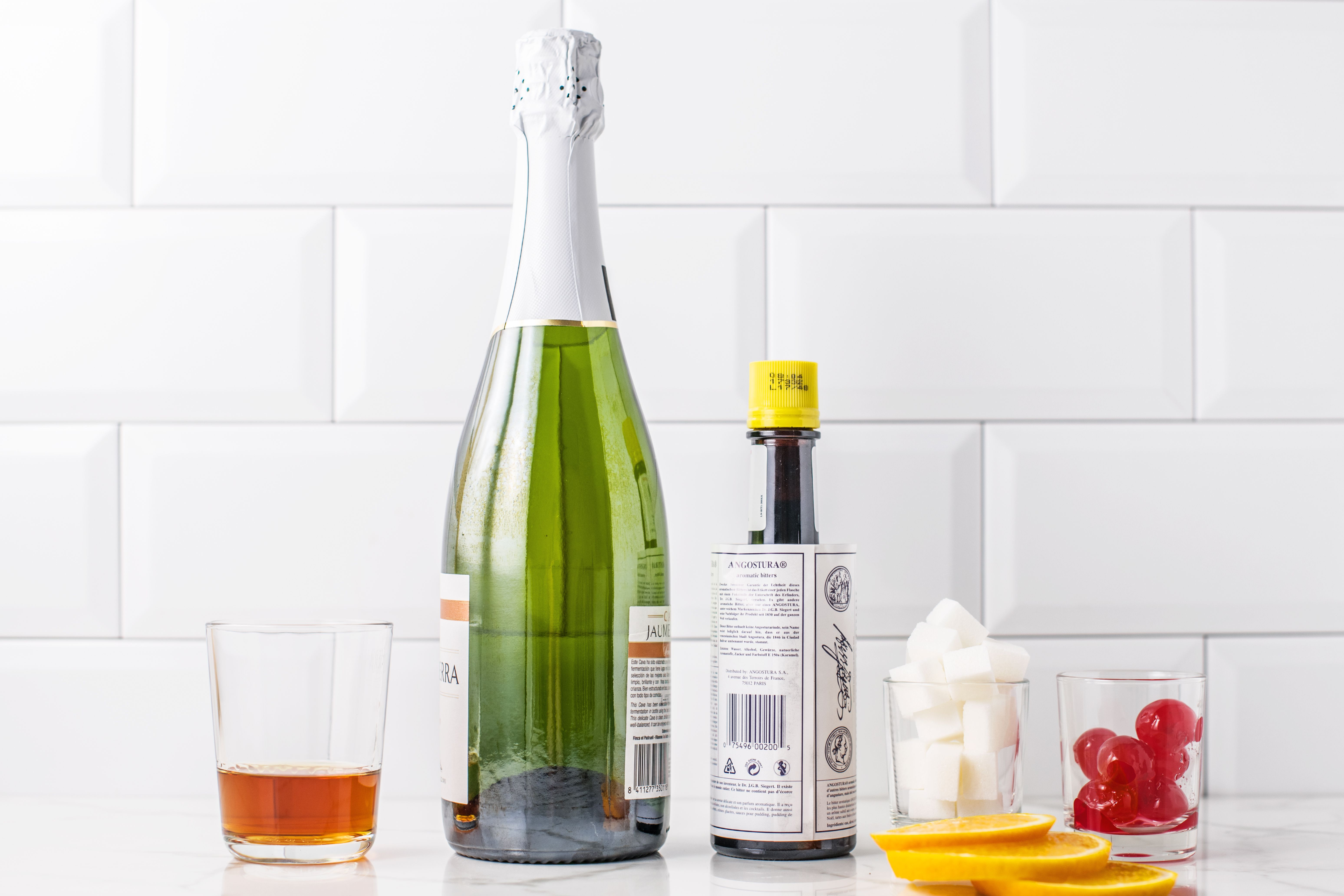 Champagne Cocktail Recipe ingredients