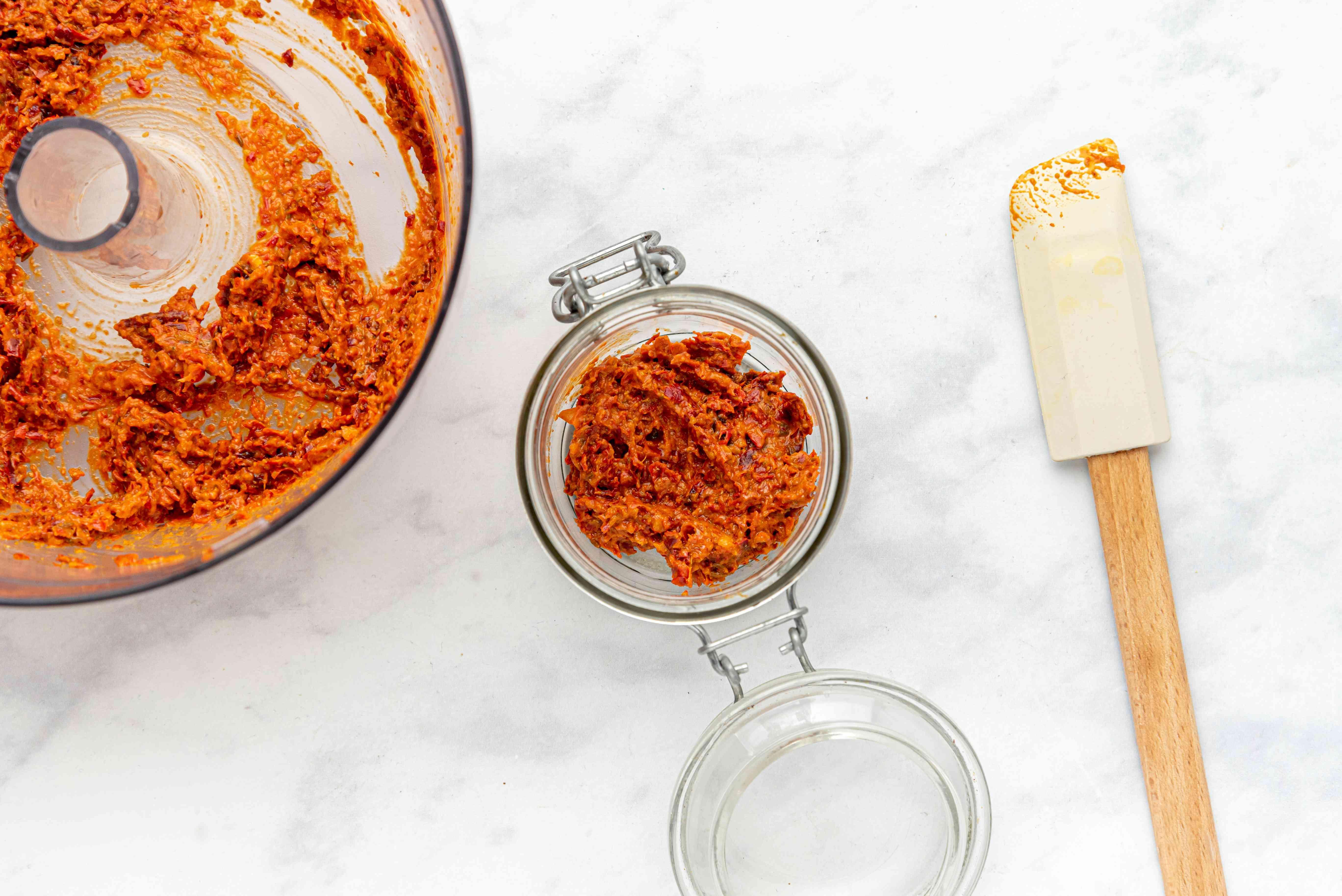 Homemade Harissa in a jar
