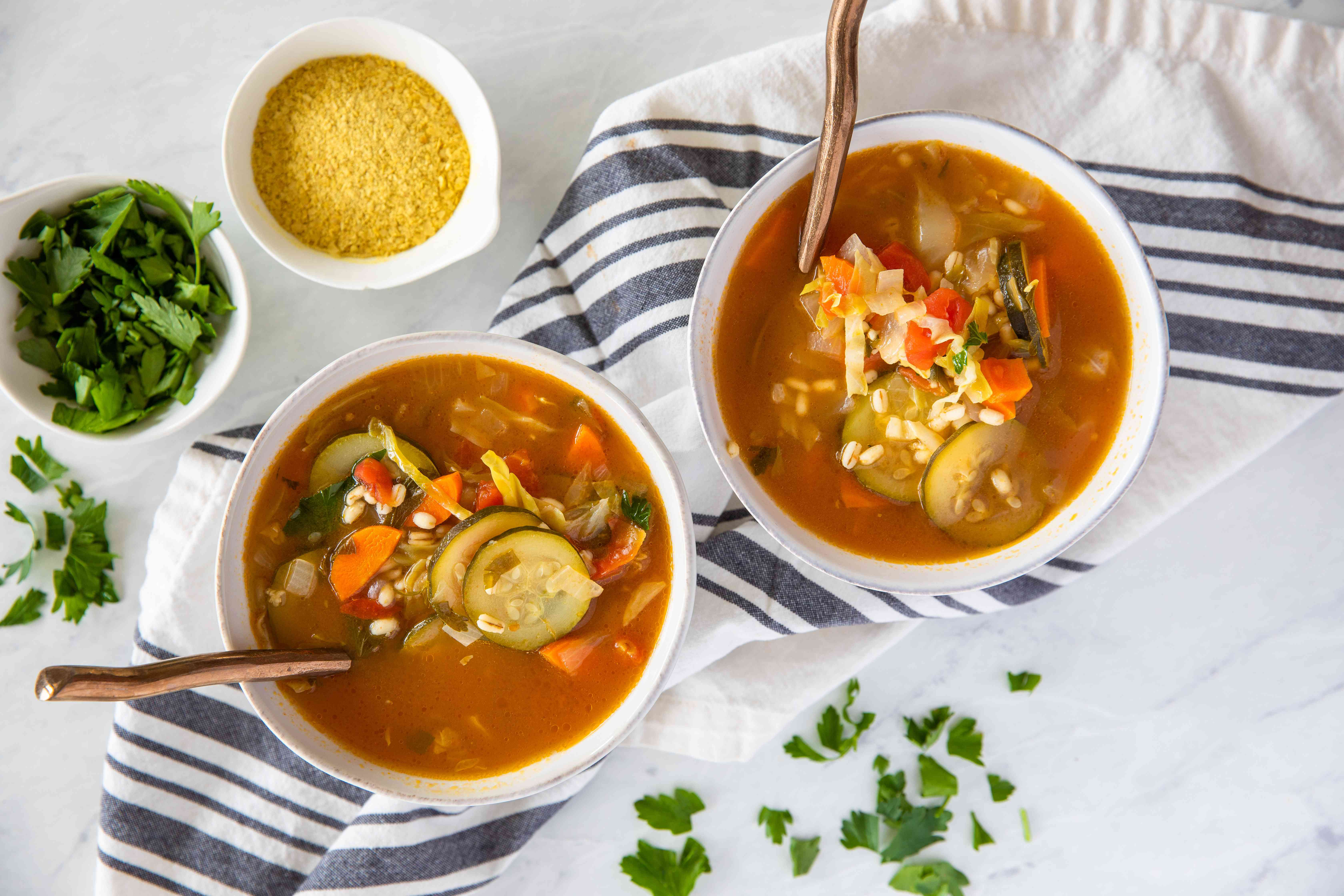 Basic vegetarian barley soup