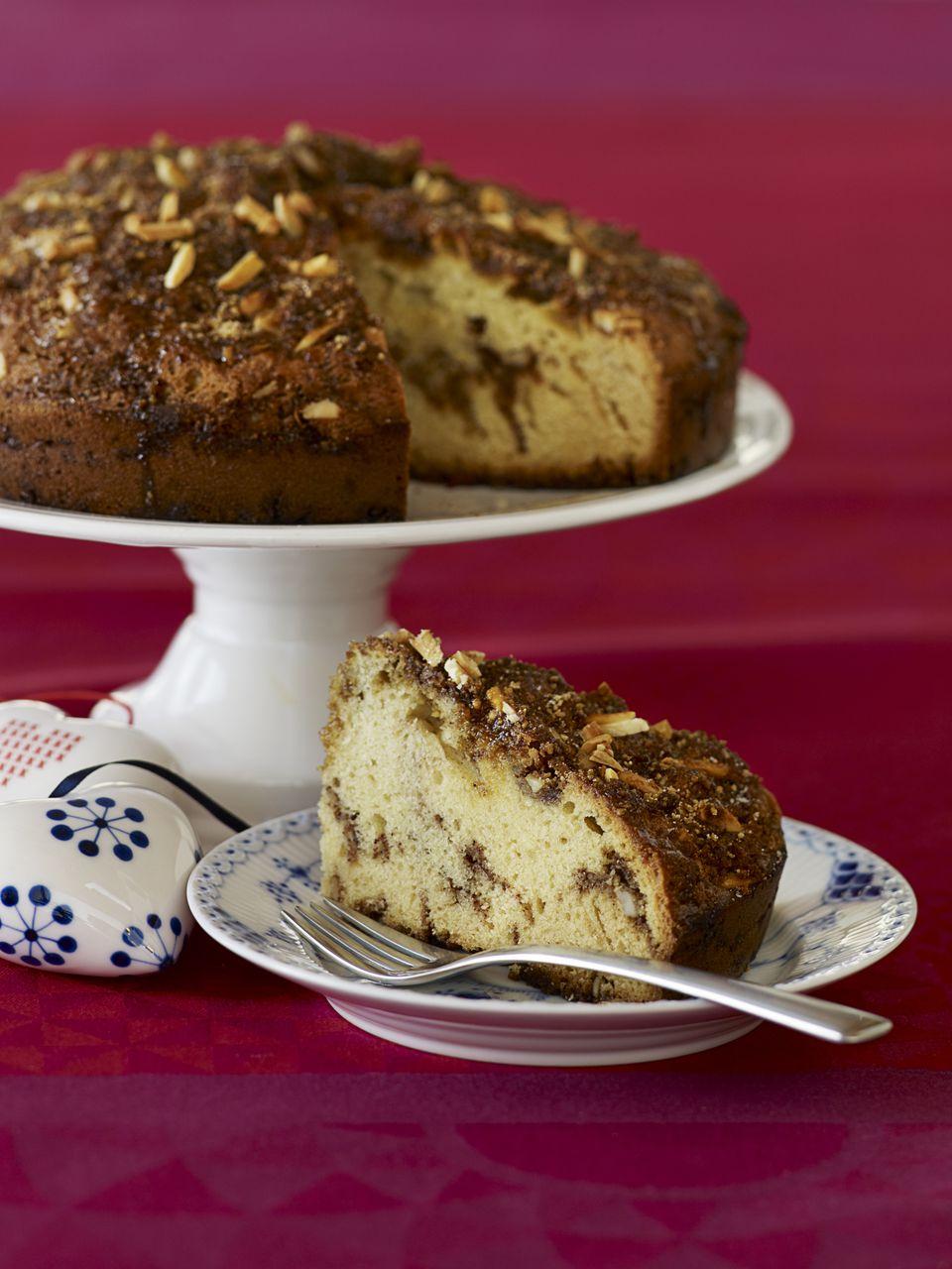 Danish Almond Streusel Cake