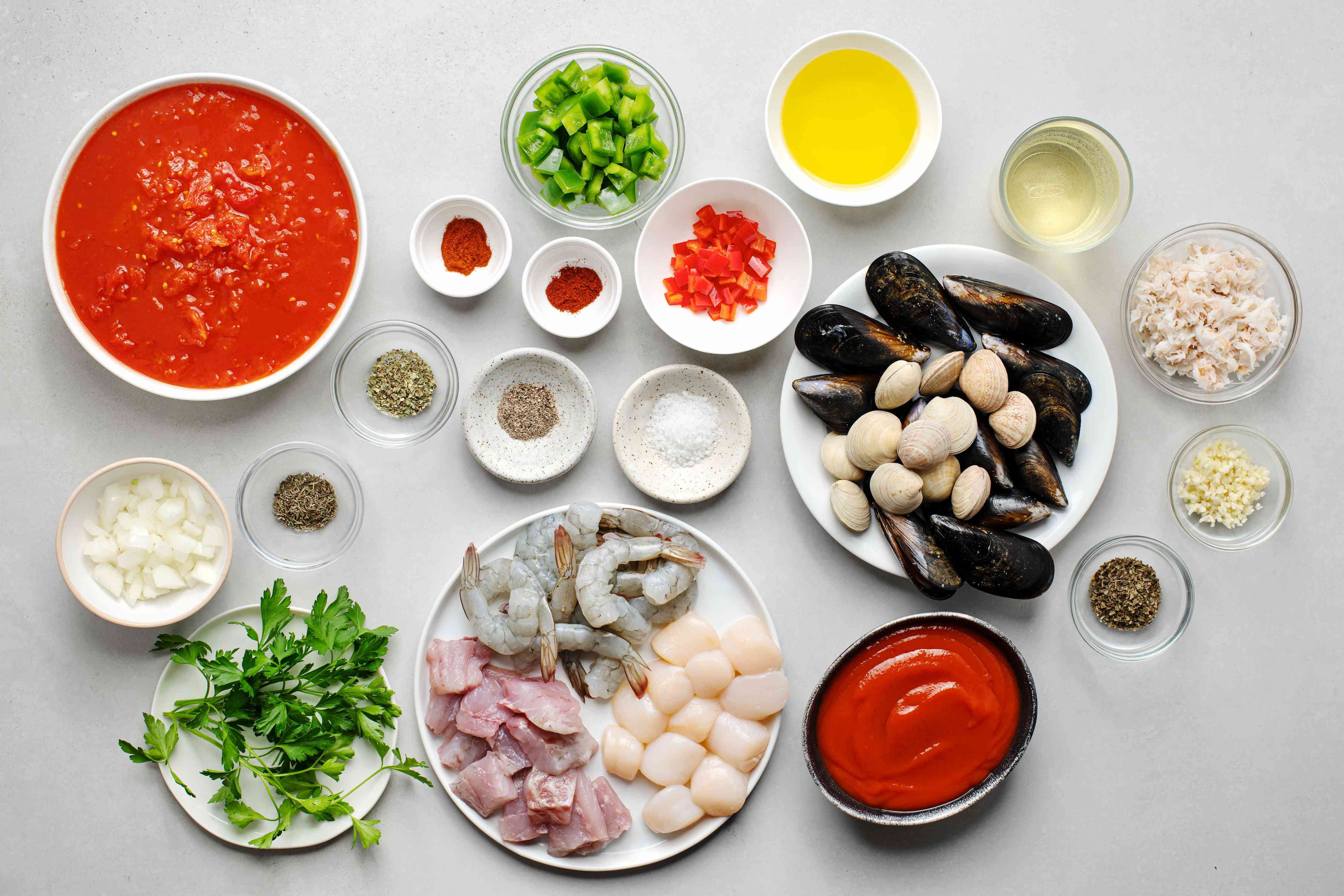 Crock Pot Fisherman's Stew (Cioppino) ingredients