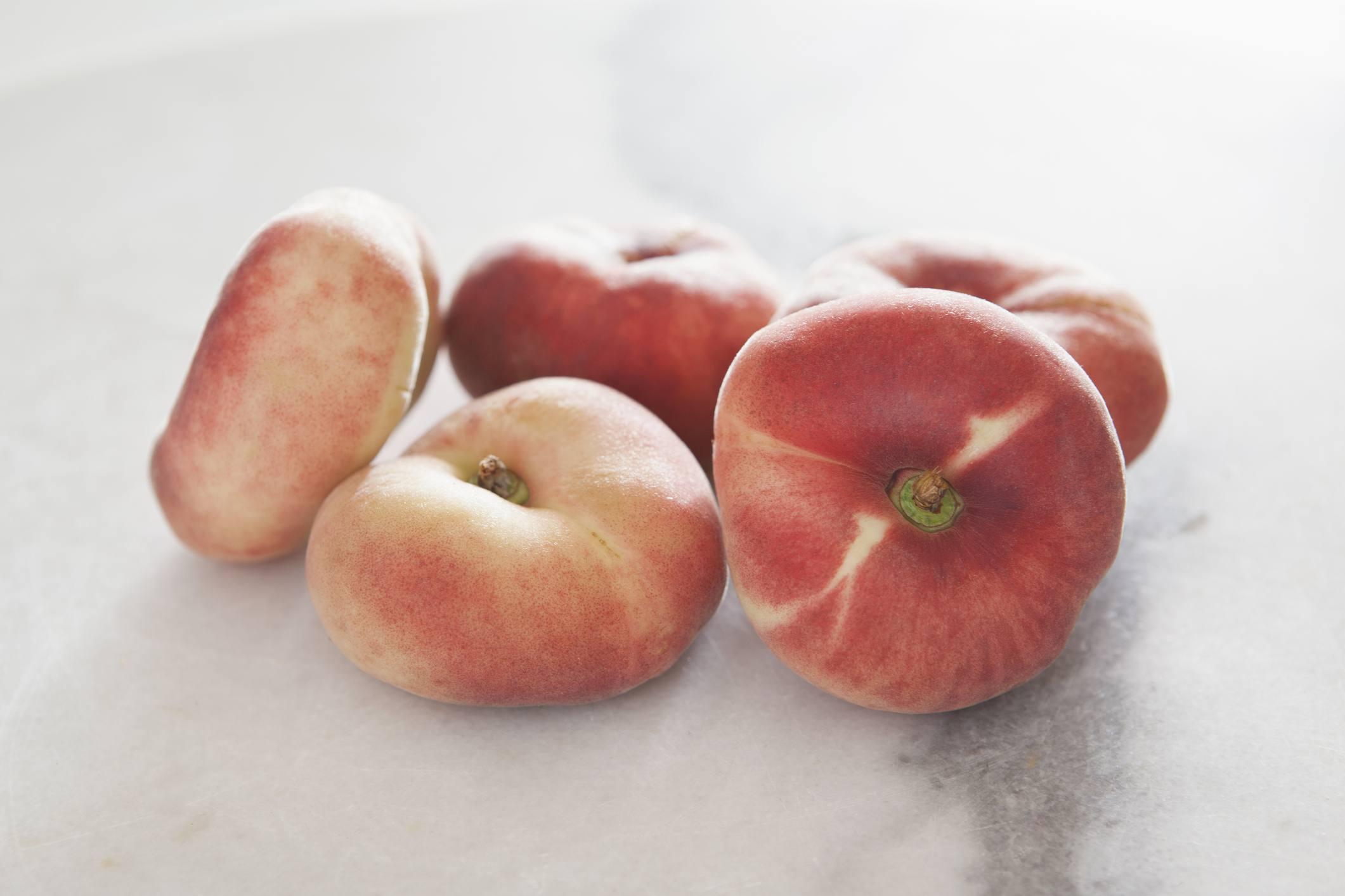Fresh, Whole Donut Peaches
