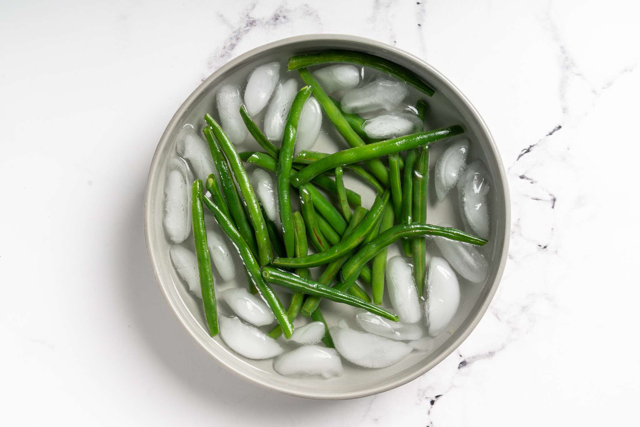beans in ice water