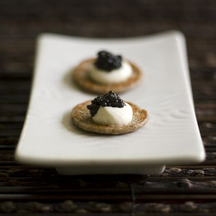 Caviar with Gluten-Free Blinis