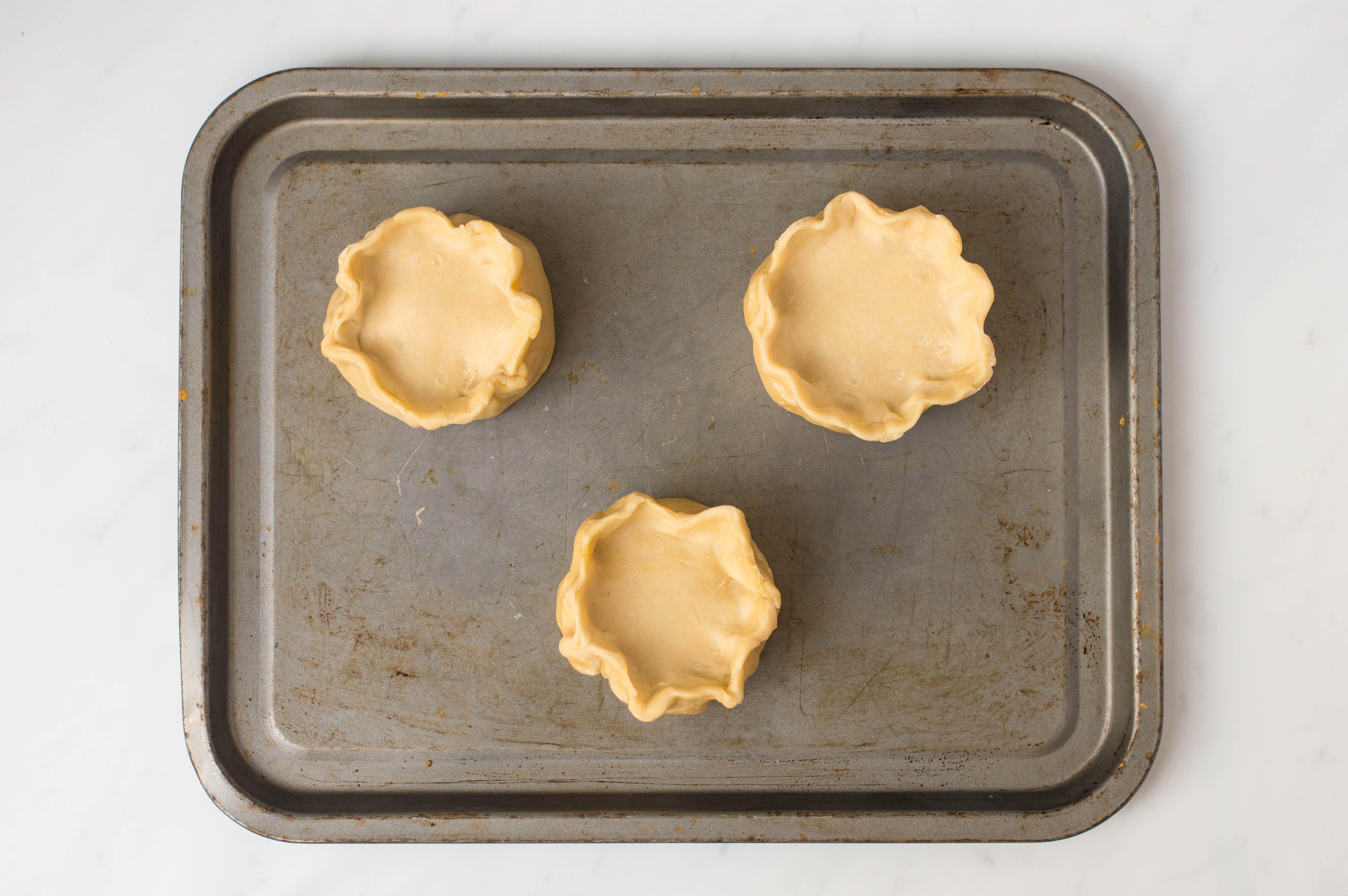 Crimp pastry edges