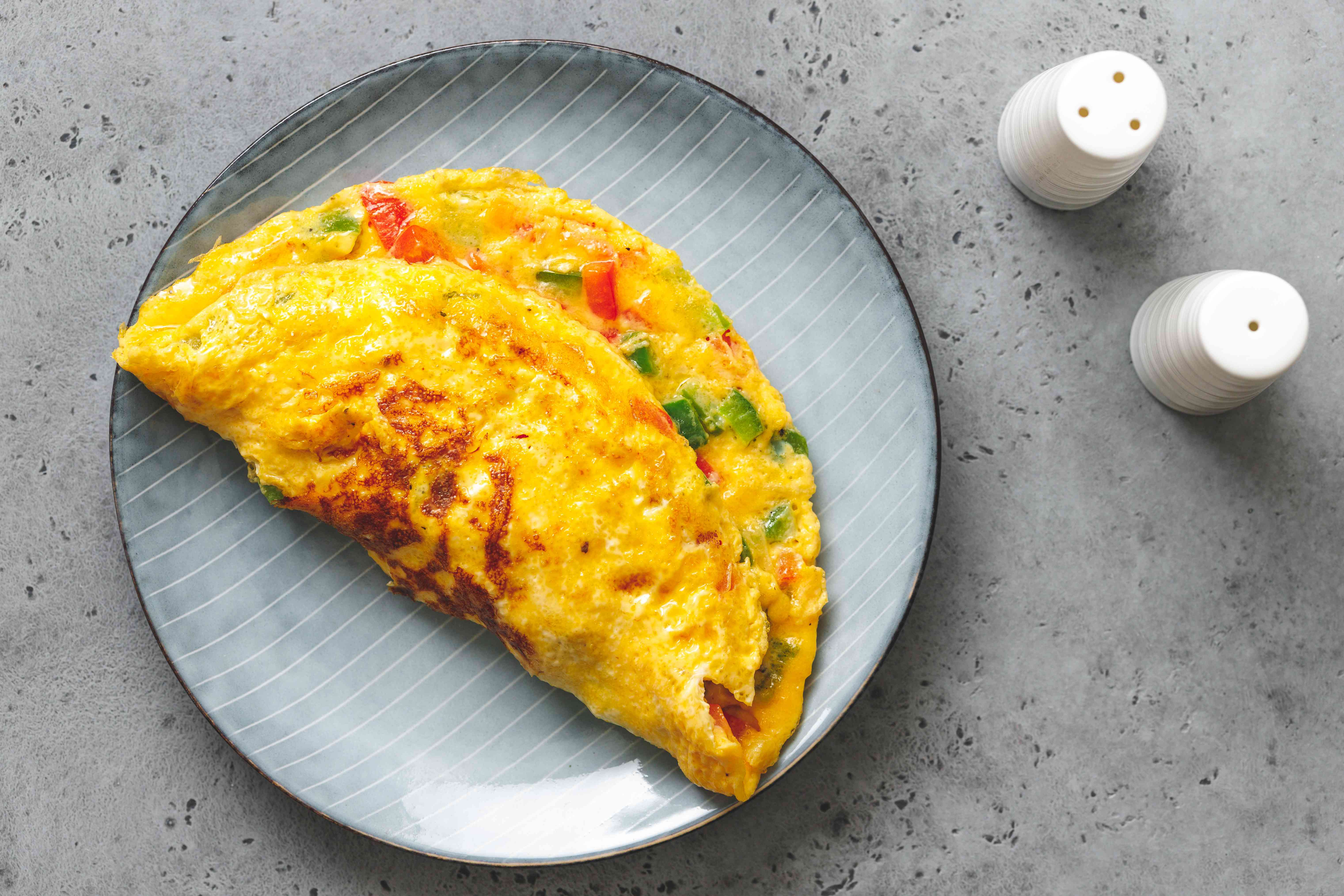finished vegetarian omelette on a plate
