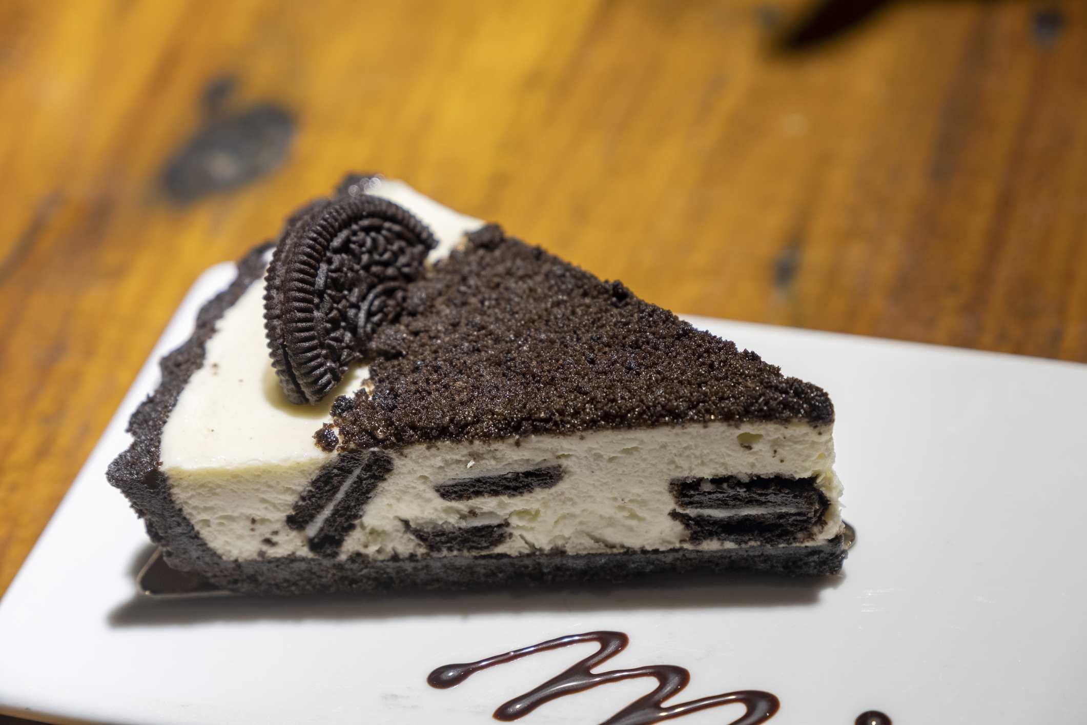 Oreo ice cream pie slice