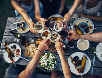 Wine Glass Toast