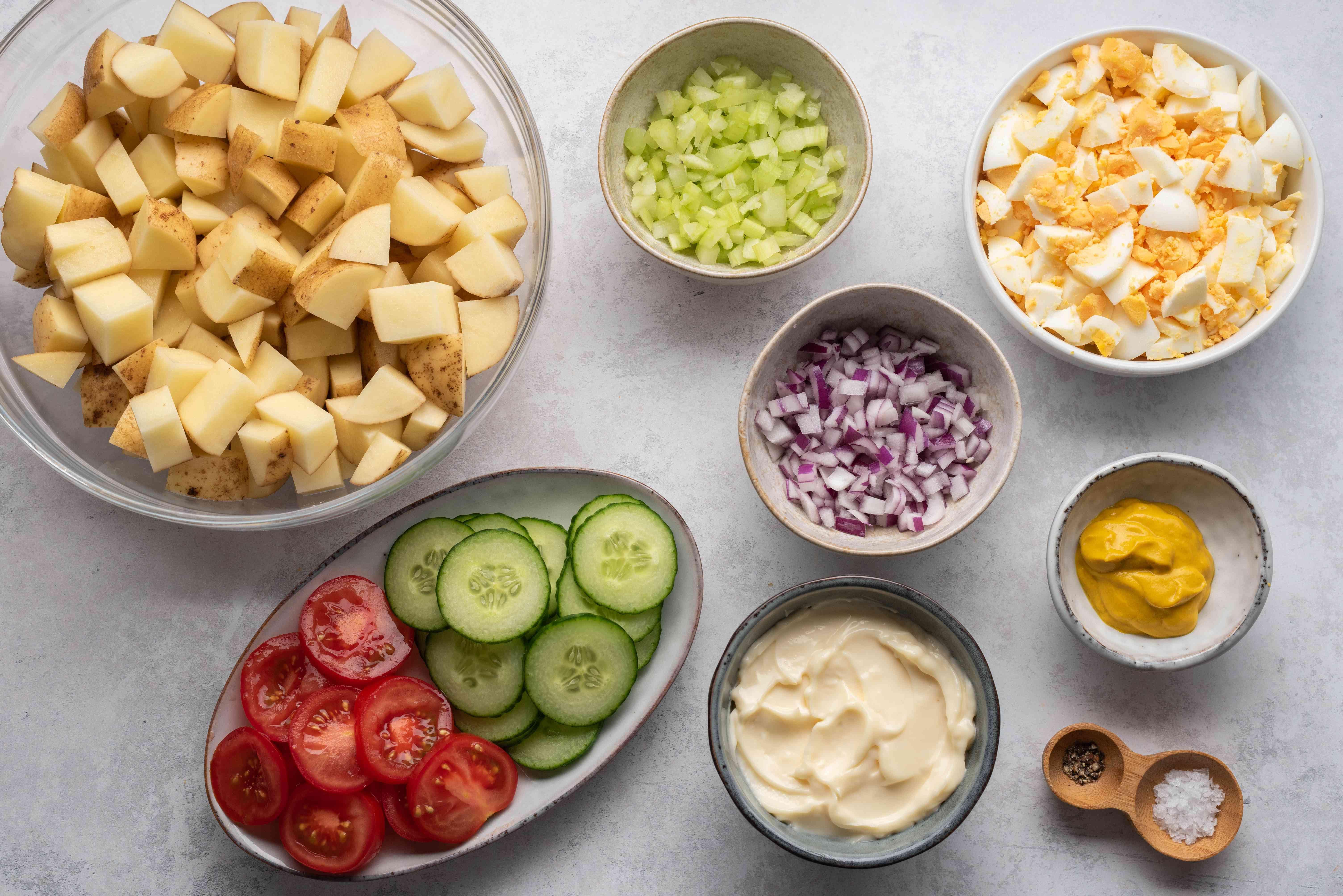 Picnic Potato Salad With Eggs ingredients