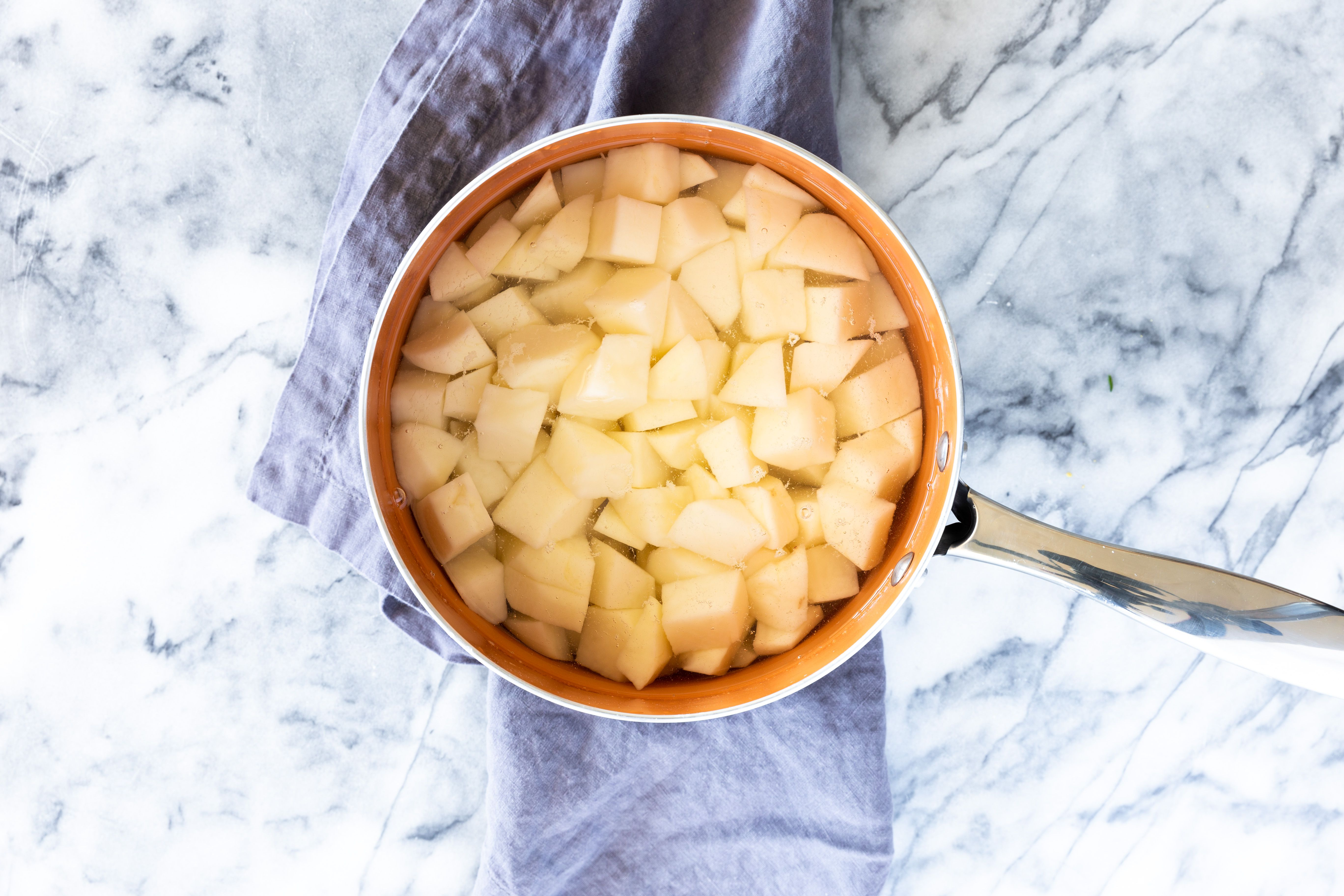 Cubed potato