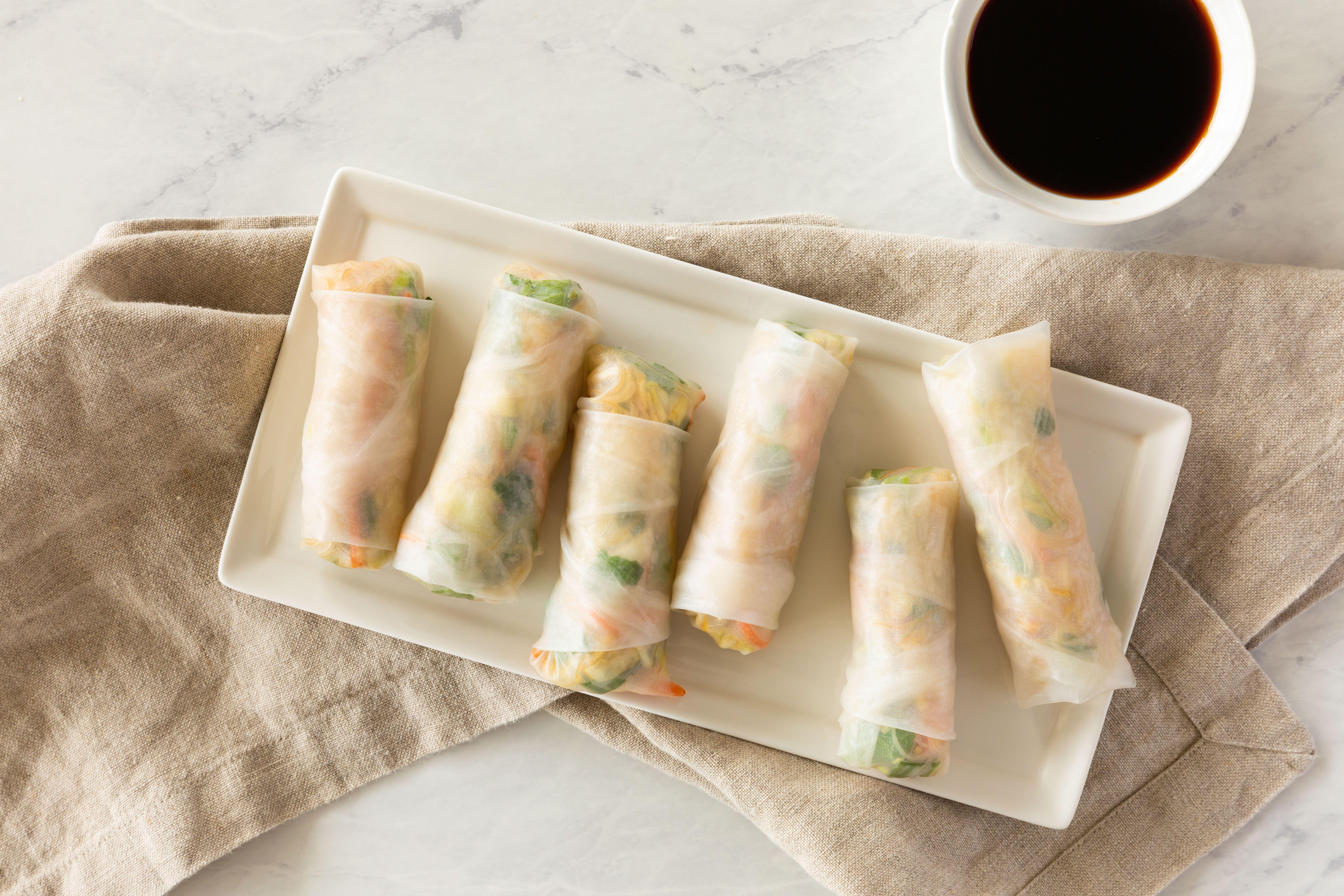 Vegan thai style spring roll