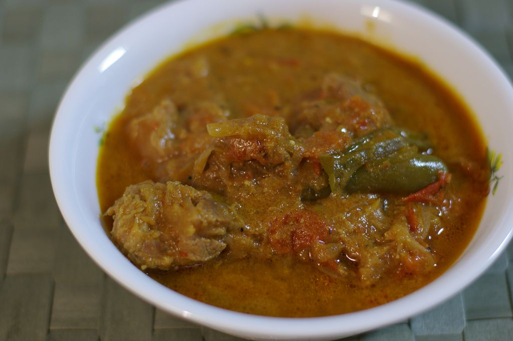 A bowl of lamb curry