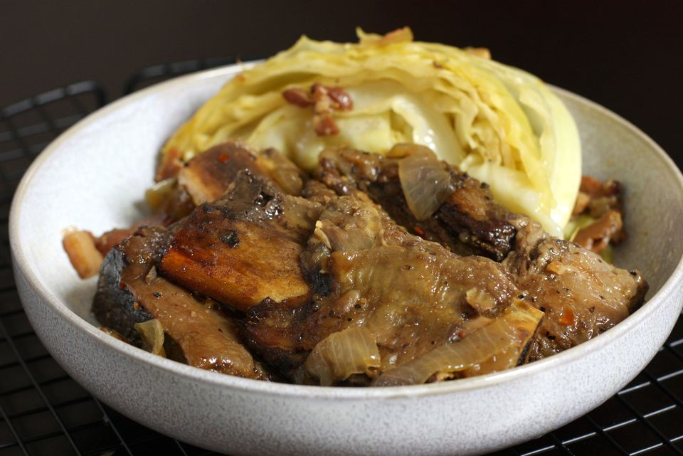 Braised Short Ribs with Cabbage