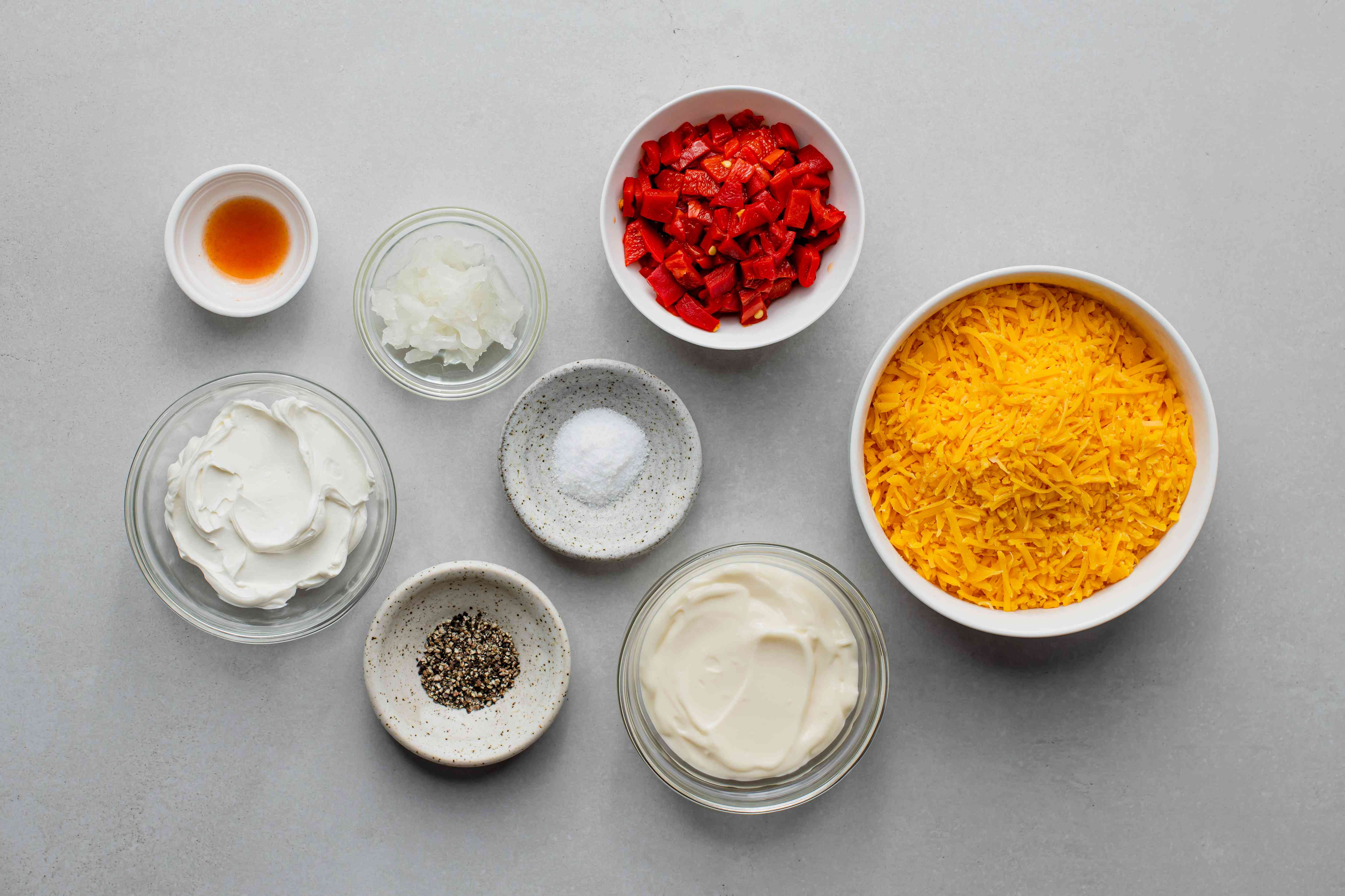 Southern Pimento Cheese Spread ingredients