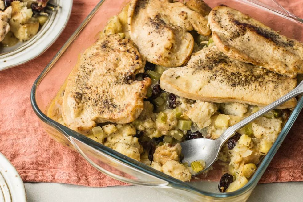 Turkey Cutlet and Stuffing Casserole