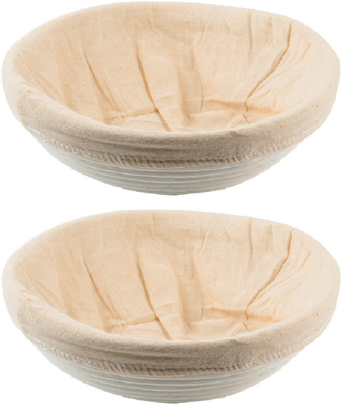 SUGUS HOUSE Set of 2 Round 9.8-Inch Bannetons