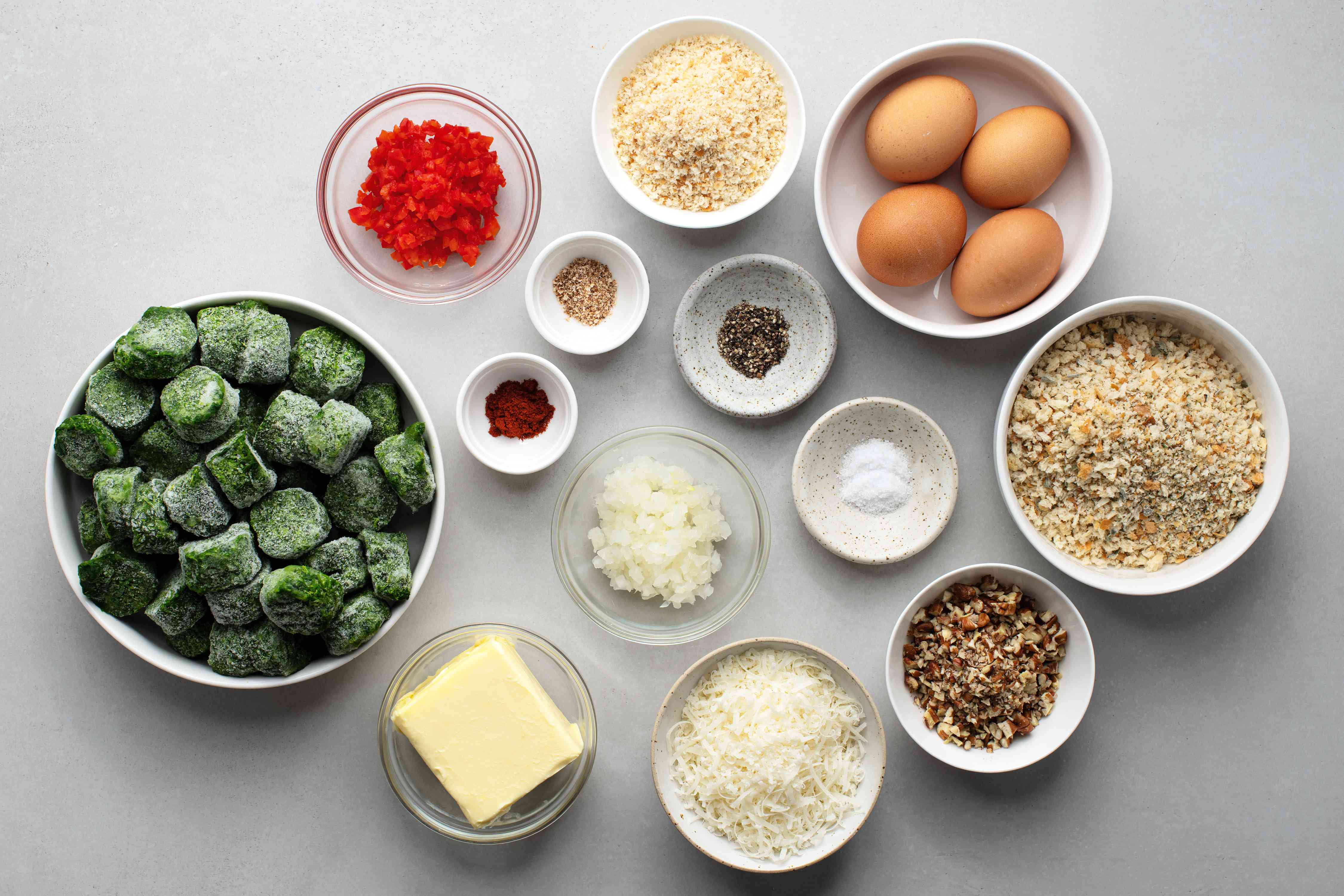 Baked Cheesy Spinach Balls ingredients