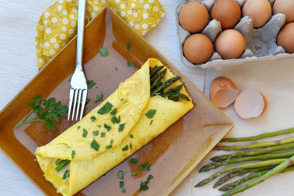 Asparagus Omelet With Gruyere