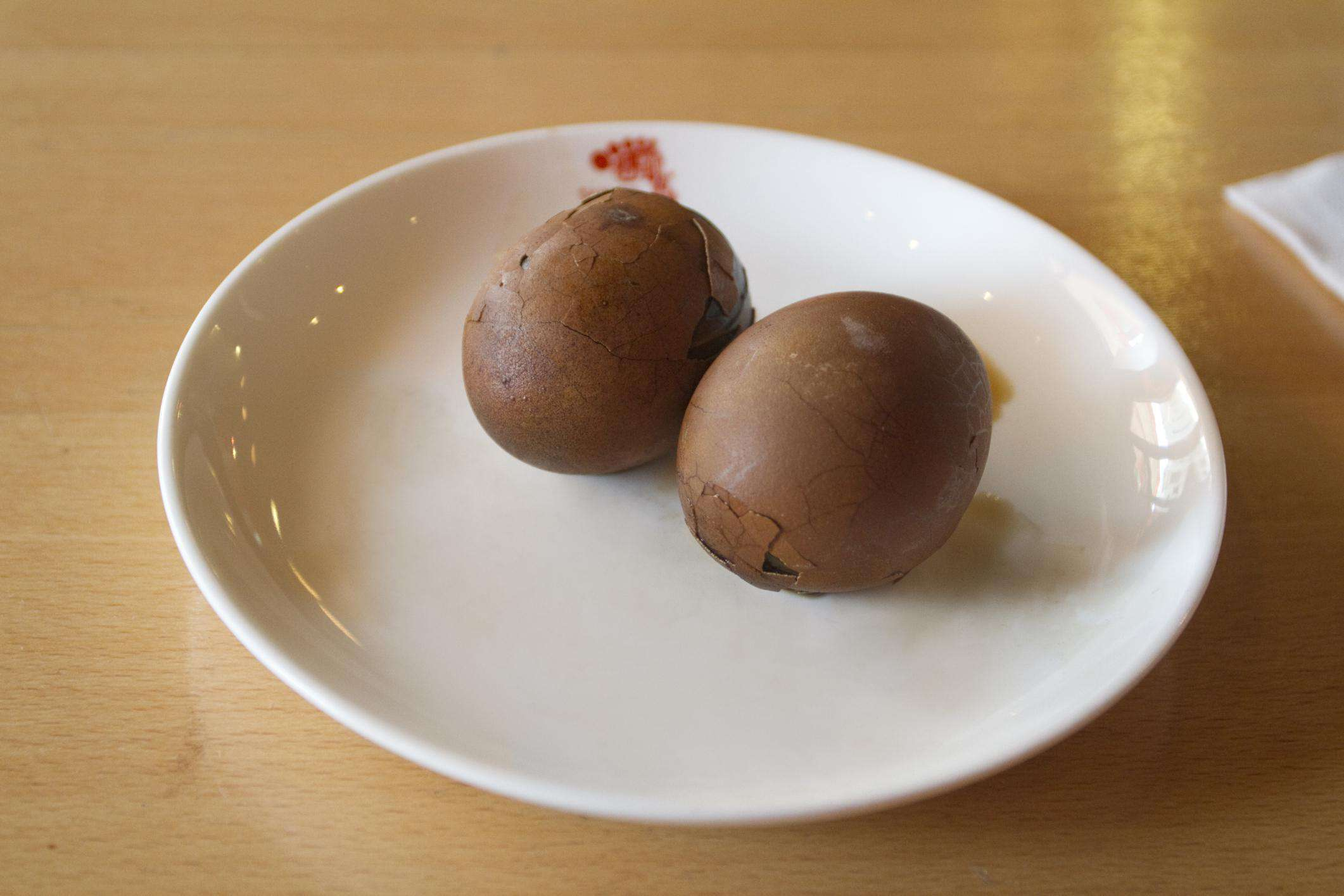 Traditional Chinese tea eggs