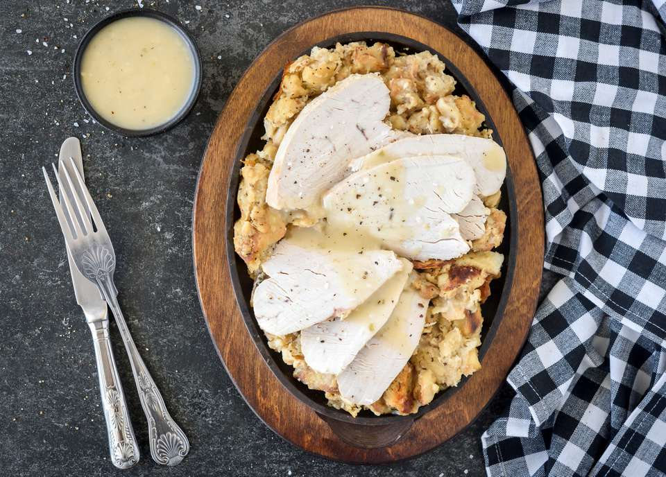 Simple crockpot turkey breast and dressing
