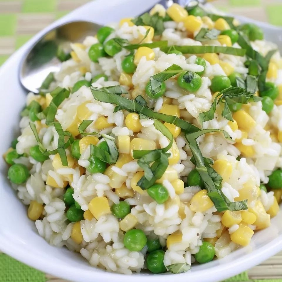 Rice Pilaf With Corn and Peas