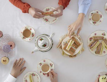 People having tea