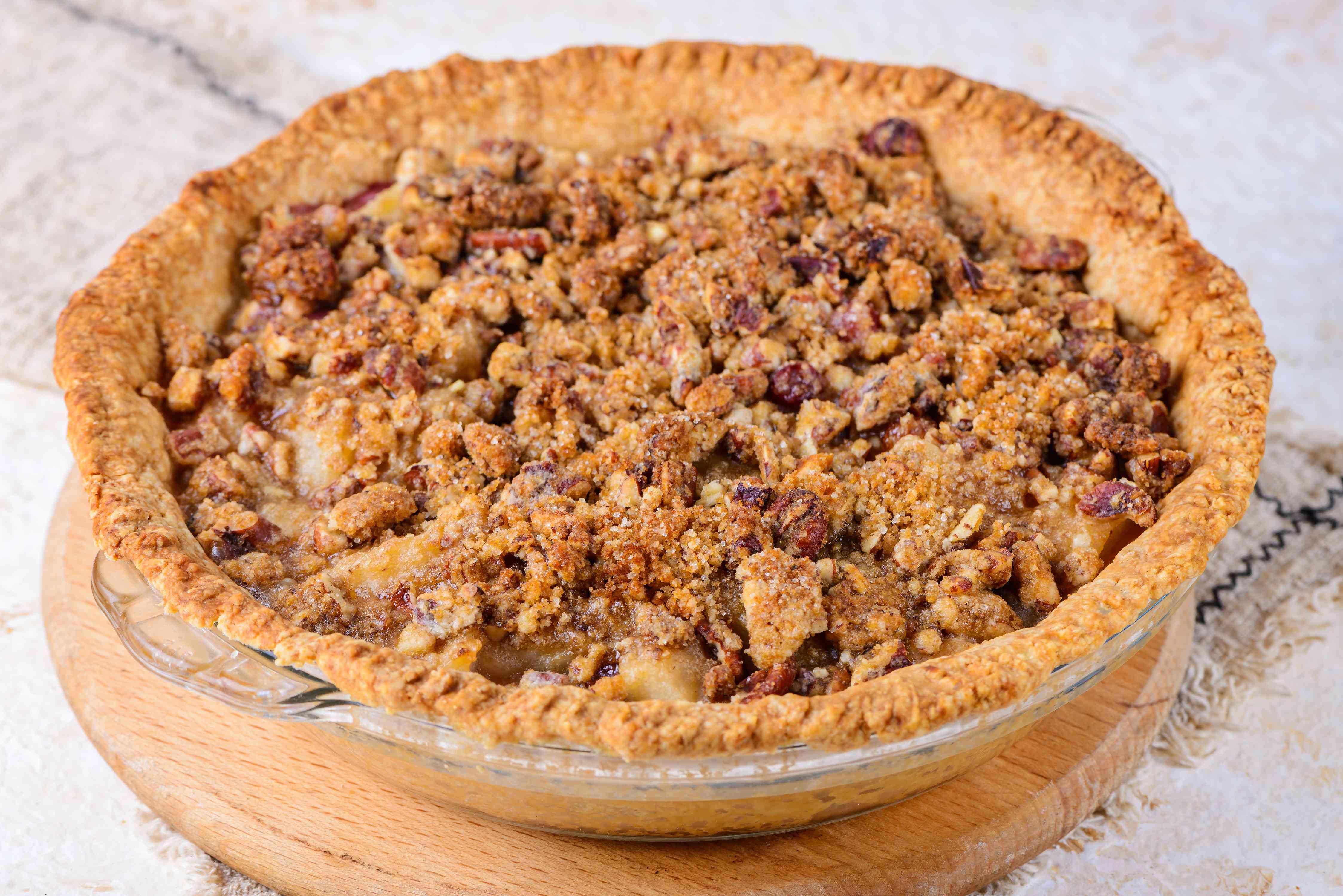 Place pie on baking sheet