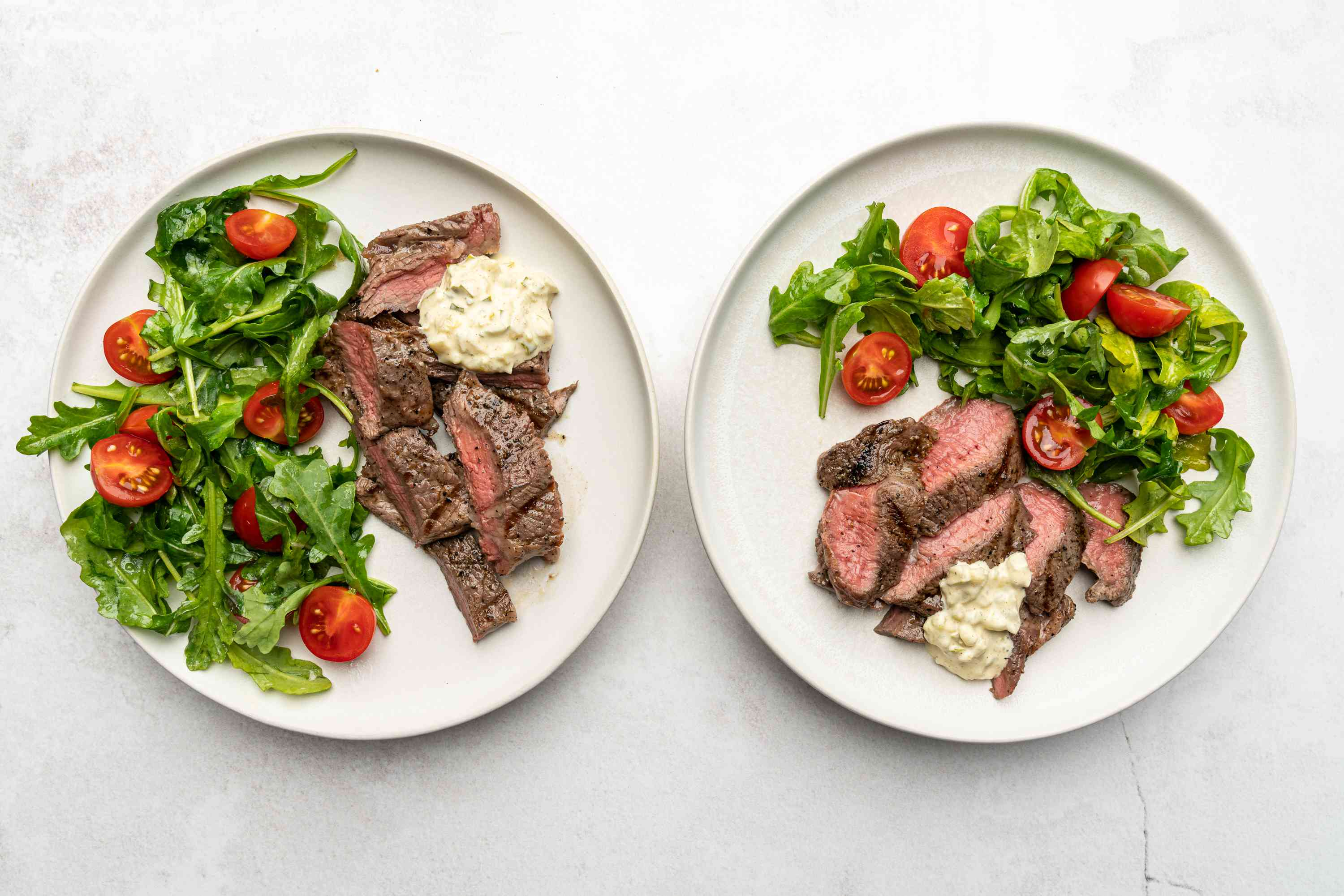 Easy Minute Steak Meals on plates