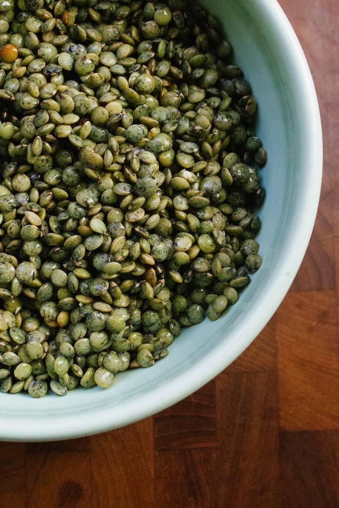 A bowl of lentils