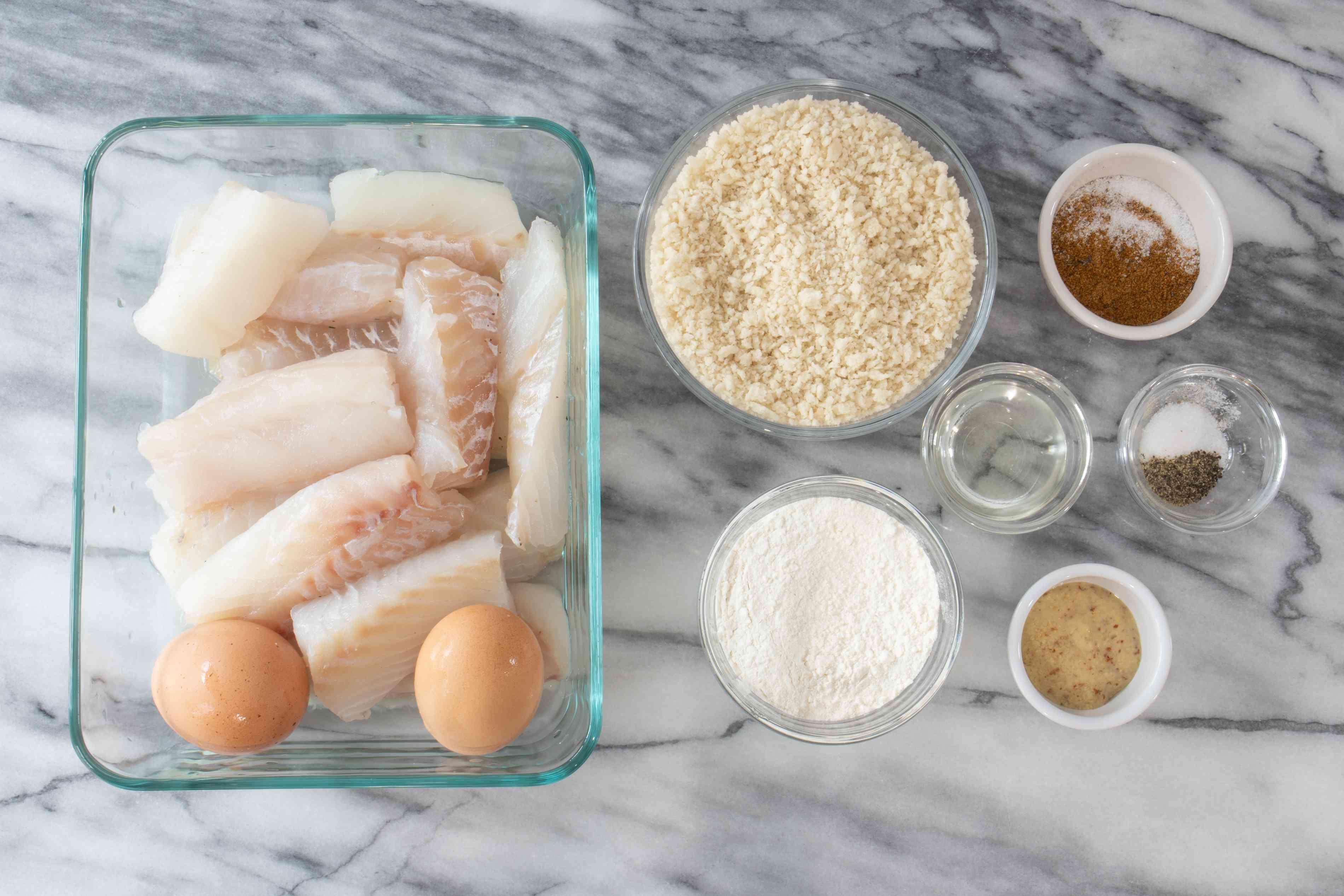 ingredients for air fryer fish sticks