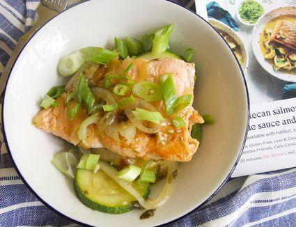 Sunbasket salmon on plate