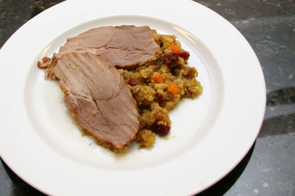 Slow Cooker Pork Loin with Stuffing