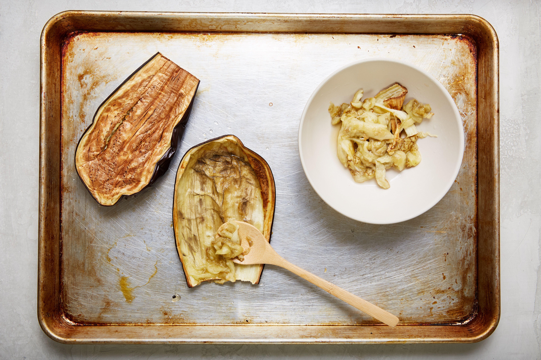Remove the eggplant