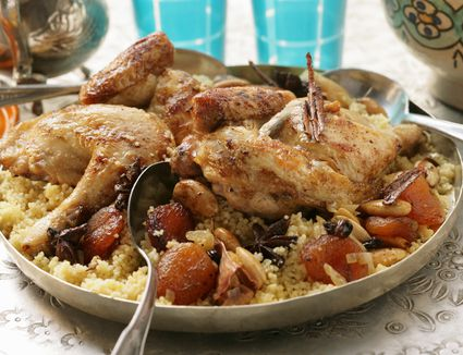 Chicken and dried fruit