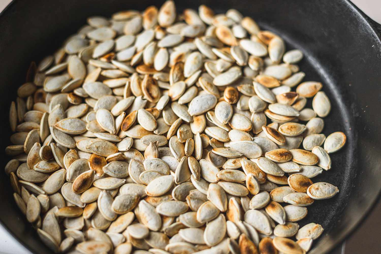 Sprinkle pumpkin seeds