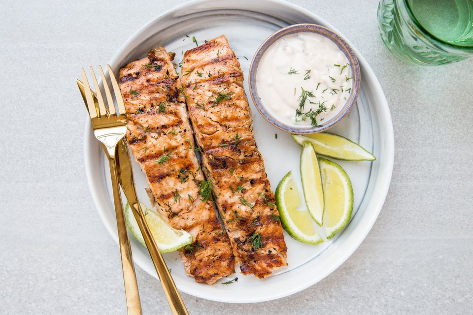 Mayonnaise Grilled Salmon Recipe
