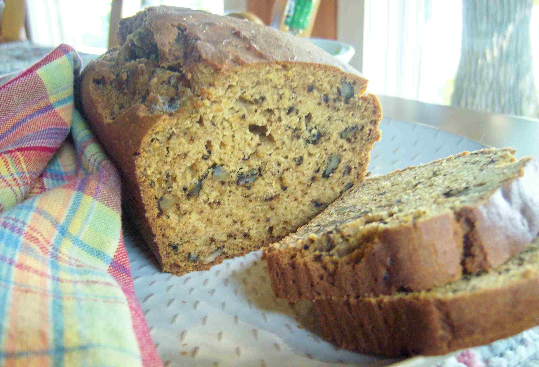 Gluten Free Pumpkin Walnut Quick Bread Image Recipe Teri Grus-