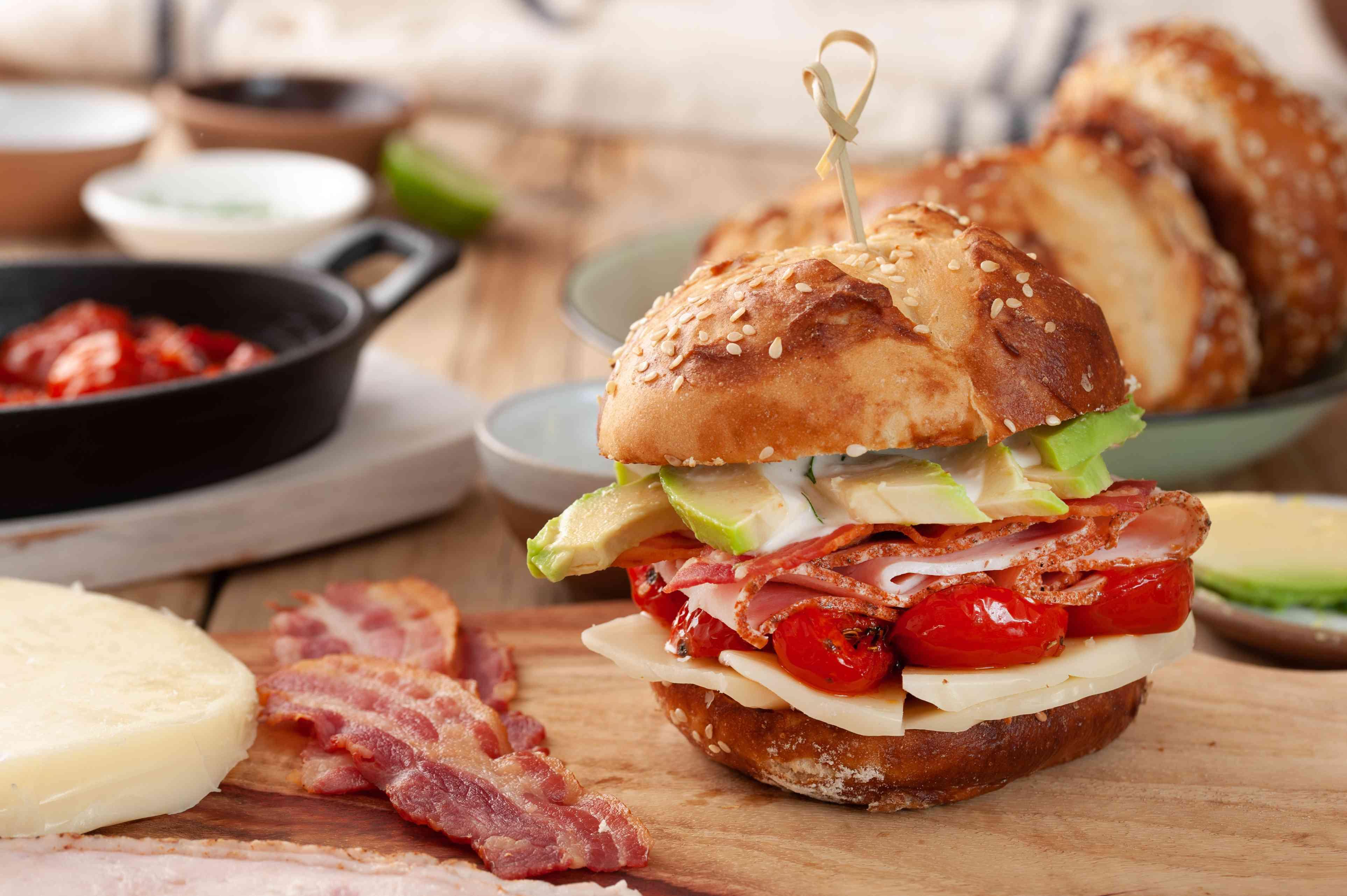 Organic turkey bacon ranch sandwich recipe