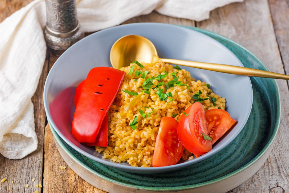 Bulgur and vegetable pilaf