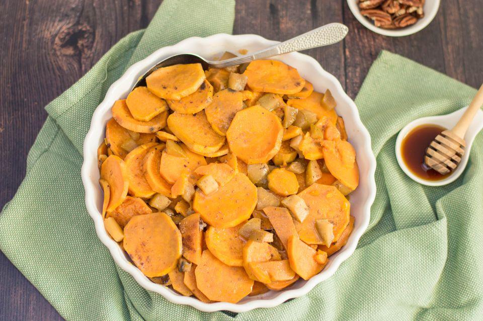 Crock Pot Sweet Potato Casserole With Apples