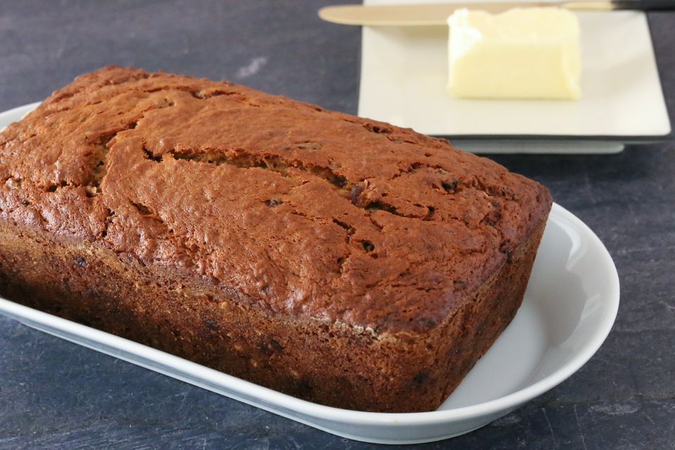 banana bread with butter